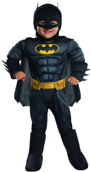 MUSCLE CHEST BATMAN COSTUME FOR TODDLER BOYS