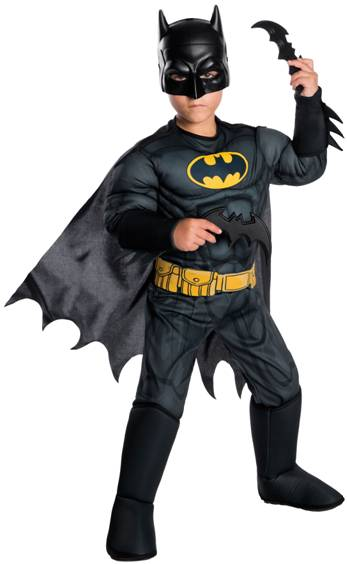 DELUXE MUSCLE CHEST BATMAN COSTUME FOR BOYS
