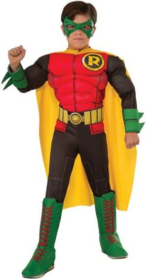 DELUXE MUSCLE CHEST ROBIN COSTUME FOR BOYS