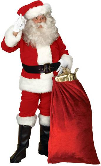 DELUXE SANTA SUIT COSTUME FOR MEN