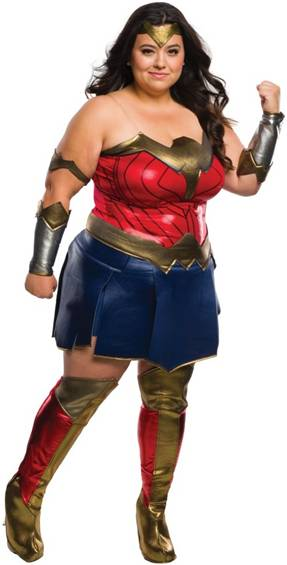 BvS DELUXE WONDER WOMAN COSTUME FOR PLUS WOMEN