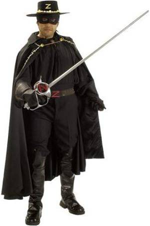 DELUXE ZORRO COSTUME FOR MEN