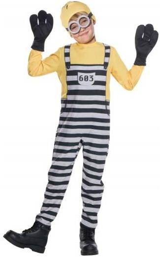 DESPICABLE ME 3 JAIL MINION TOM COSTUME FOR BOYS
