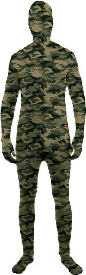 DISAPPEARING MAN CAMOUFLAGE SKIN SUIT