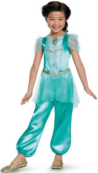 DISNEYS ALADDIN PRINCESS JASMINE COSTUME FOR GIRLS