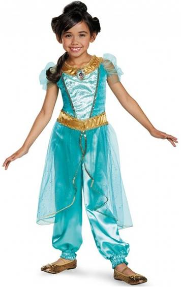 DISNEY'S JASMINE DELUXE COSTUME FOR GIRLS