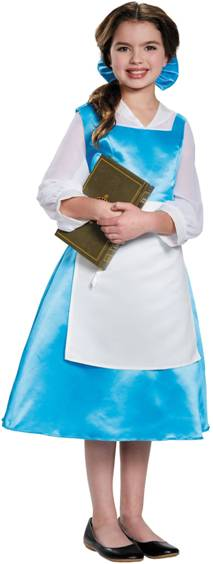BELLE BLUE TOWN DRESS COSTUME FOR TWEEN GIRLS