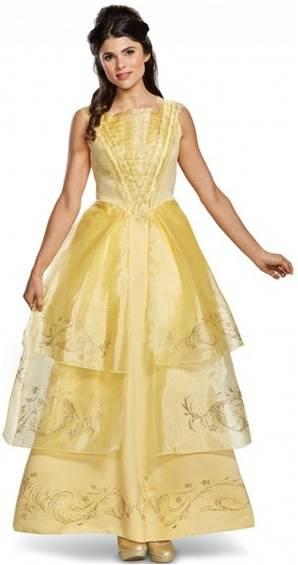BEAUTY BELLE BALL GOWN DELUXE COSTUME FOR WOMEN