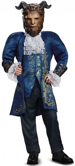 BEAUTY & THE BEAST DELUXE BEAST COSTUME FOR BOYS