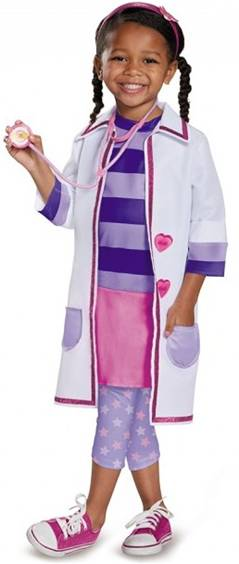 DISNEY DELUXE DOC MCSTUFFINS COSTUME FOR GIRLS