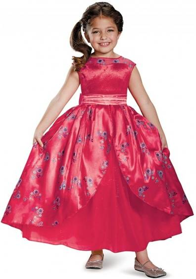 DISNEY'S ELENA OF AVALOR DELUXE GOWN FOR GIRLS