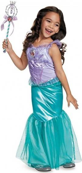 DISNEY'S - DELUXE LITTLE MERMAID COSTUME FOR GIRLS