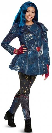 *STORE ONLY*DESCENDANTS DLX EVIE COSTUME FOR GIRLS
