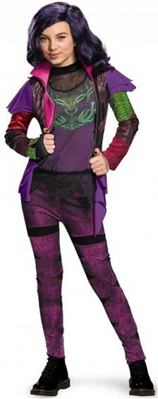 DESCENDANTS DELUXE MAL COSTUME FOR GIRLS