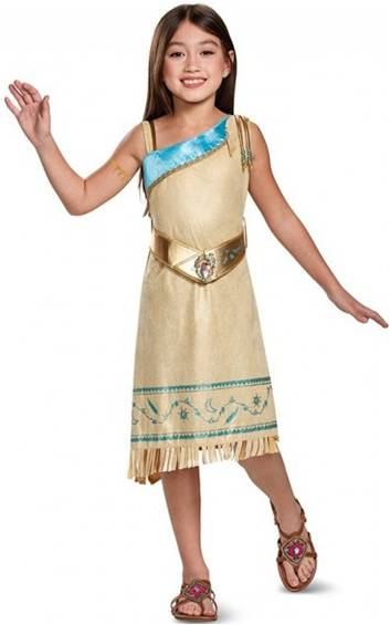 DISNEY'S DELUXE POCAHONTAS COSTUME FOR GIRLS