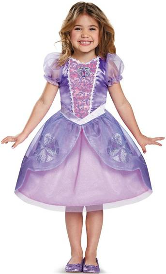 CLASSIC SOFIA THE FIRST COSTUME FOR GIRLS