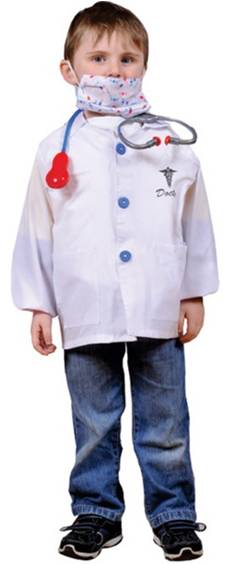 DOCTOR COSTUME FOR TODDLERS BOYS OR GIRLS