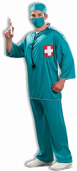 SURGEON SCRUBS COSTUME FOR MEN OR WOMEN