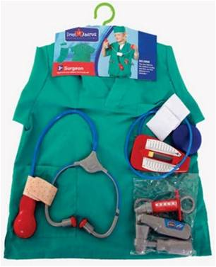 SURGEON SCRUBS COSTUME FOR BOYS OR GIRLS