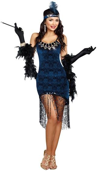 DOWNTOWN DOLL GATSBY FLAPPER COSTUME FOR WOMEN