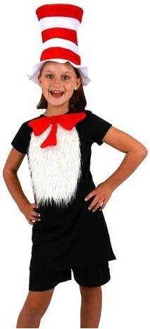 INSTA-TUX CAT IN THE HAT COSTUME KIT FOR KIDS