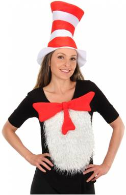 INSTA-TUX CAT IN THE HAT COSTUME KIT FOR ADULTS