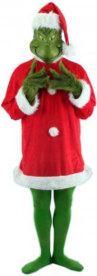 DELUXE THE GRINCH SANTA COSTUME FOR MEN
