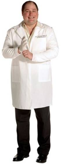 DR. SEYMOUR BUSH, GYNECOLOGIST COSTUME FOR MEN
