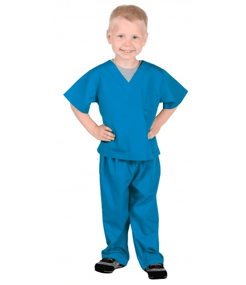 DOCTOR SURGEON SCRUBS(ASTOR BLUE) COSTUME FOR KIDS