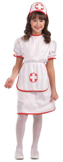ECONOMICAL NURSE COSTUME FOR GIRLS