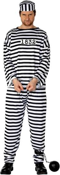 CONVICT COSTUME FOR ADULTS
