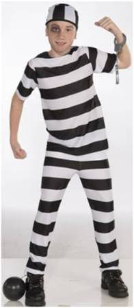 CONVICT COSTUME FOR KIDS