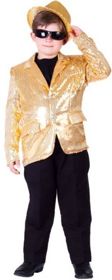 GOLD SEQUINED BLAZER FOR KIDS BOYS OR GIRLS