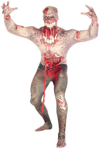 EXPLODING ZOMBIE MORPHSUIT COSTUME FOR BOYS
