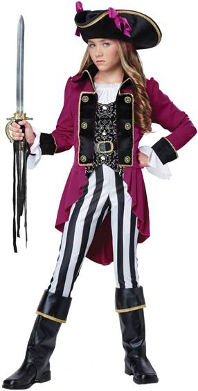 CUTE FASHION PIRATE COSTUME FOR GIRLS