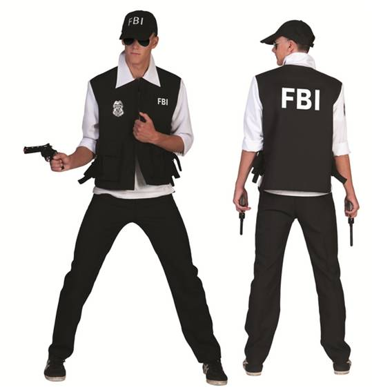 FBI AGENT COSTUME FOR MEN