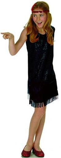 SEQUINED FLAPPER (IN BLACK OR RED)