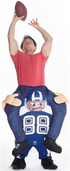 FOOTBALL RIDE-ON COSTUME FOR ADULTS