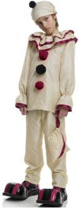 FREAK SHOW HORROR CLOWN COSTUME FOR BOYS