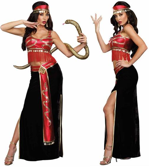 FREAK SHOW SEXY SNAKE CHARMER COSTUME FOR WOMEN