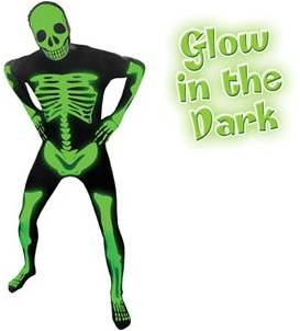 ADULT DELUXE GLOW IN THE DARK SKELETON MORPHSUIT