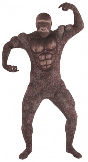 GORILLA MUSCLE MORPHSUIT COSTUME FOR ADULTS