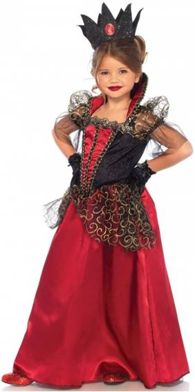 GOTHIC RED QUEEN COSTUME FOR GIRLS