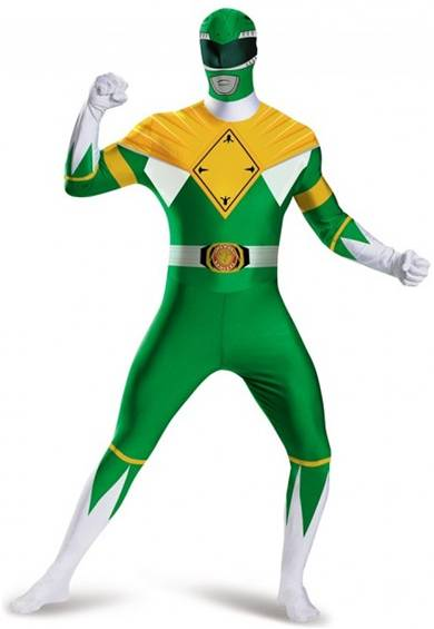 MIGHTY MORPHIN GREEN POWER RANGER COSTUME FOR BOYS