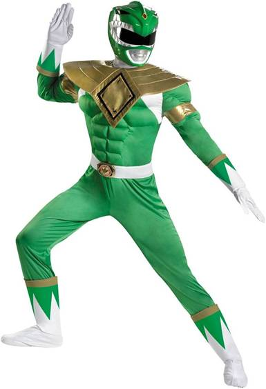 GREEN POWER RANGER WITH MUSCLE TORSO