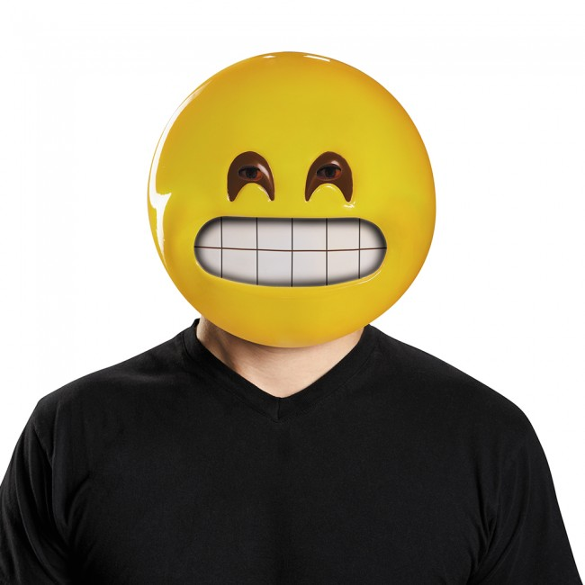 GRIN HAPPY EMOJI MASK