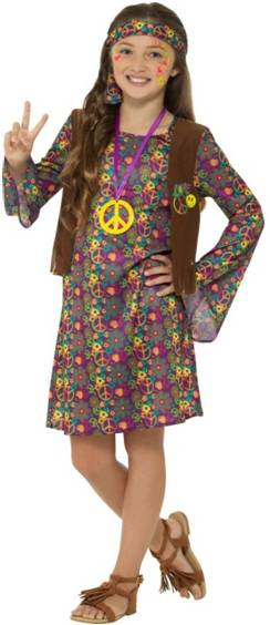 HIPPIE GIRL COSTUME FOR GIRLS
