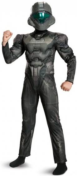 HALO DELUXE SPARTAN BUCK COSTUME FOR BOYS