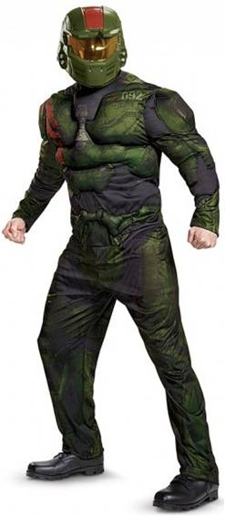 HALO WARS DELUXE SPARTAN JEROME COSTUME FOR MEN