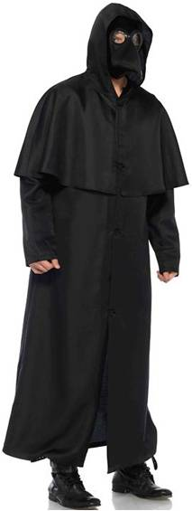 HOODED CLOAK COSTUME ACCESSORY FOR MEN